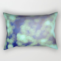 Green Pillow Includes Insert - Bokeh Photograph - Rectangular Bed Pillow - Decorative Pillow - Made to Order