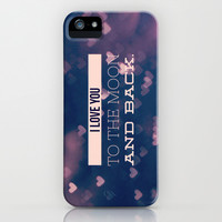 I Love You to the Moon and Back iPhone & iPod Case by Olivia Joy StClaire