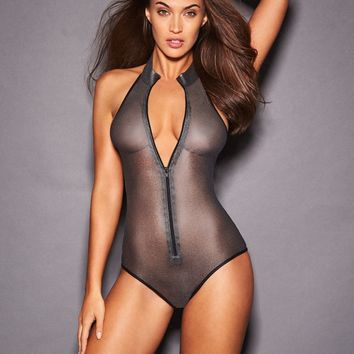 Zarra Metallic Mesh Teddy