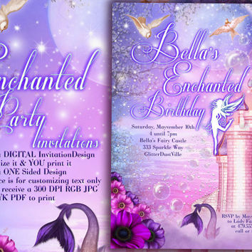 Fairy Princess Party Invitation, Birthday Party Invitations, Fairy Princess Invitations, Princes Party, Princess Carriage Invitation