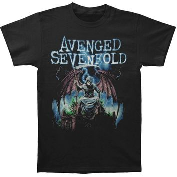 Avenged Sevenfold Men's  Reaper On Gate Slim Fit T-shirt Black
