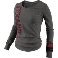 Nike Houston Texans Go Long Ladies Long Sleeve T-Shirt - Gray