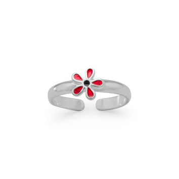 Enamel Flower Toe Ring
