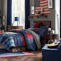 Hampton Plaid Bedroom