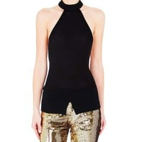 Sass and Bide Enduring Light Black Halter Top