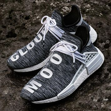 spbest Pharrell Williams x   Human Race NMD Trail Core Black