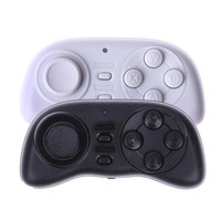 Portable Wireless Bluetooth Game Controller Mini Gamepad Joystick Joypad Game Handle for Smartphones Computer Games Black White