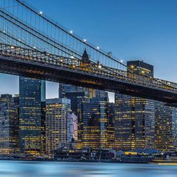 Brewster Wallpaper DM863 Blue Hour over New York Wall Mural