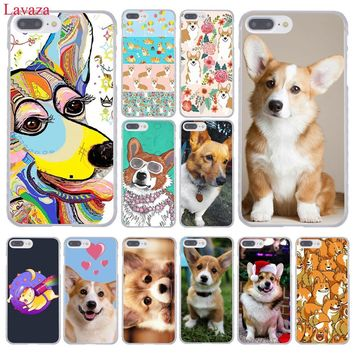 Lavaza cute Corgi dog Hard Coque Shell Phone Case for Apple iPhone 8 7 6 6S Plus X 10 5 5S SE 5C 4 4S Cover
