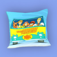 Scooby Doo in Car for Pillow Case, Pillow Cover, Custom Pillow Case **