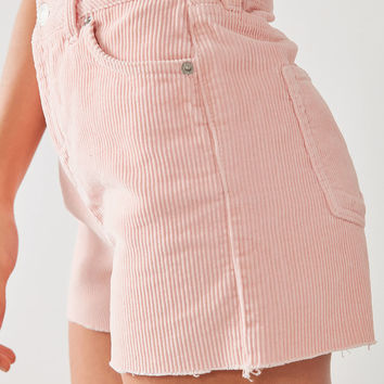 BDG High-Rise Frayed Corduroy Short | Urban Outfitters