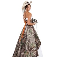 Camo Wedding Gowns with Tulle | Realtree Camo Wedding Dress - Free Shipping