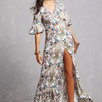 Paisley Floral Wrap Dress