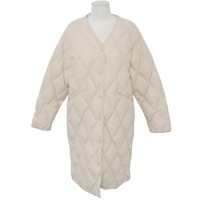 Diamond Quilt Snap Button Coat