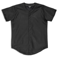 Dark Renaissance Leather Baseball Jersey