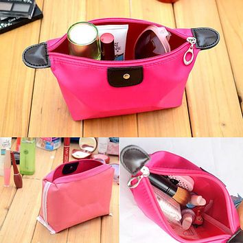 Small Toilet Vanity Toiletry Kit Travel Necessaire Make Up Necessaries Makeup Cosmetic Bag Organizer For Women Beauty Case Pouch