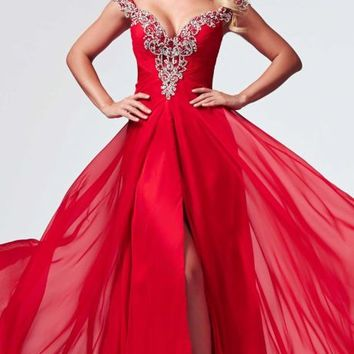 Sweetheart Chiffon Gown by Mac Duggal Prom