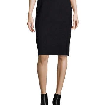 Fitted Jacquard Pencil Skirt, Size: