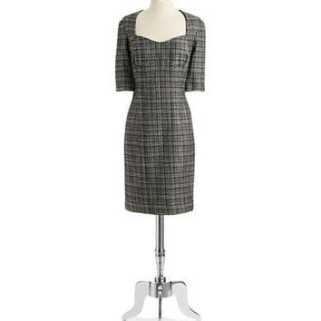 Pamella Pamella Roland Tweed Sheath Dress