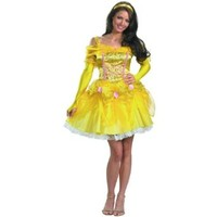 Disguise Disney Beauty And The Beast Sassy Belle Costume, Multi, Medium/8-10