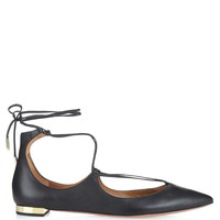 Christy leather flats | Aquazzura | MATCHESFASHION.COM