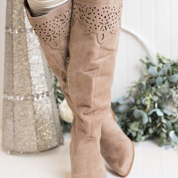 Somebody Else Not Rated Cutout Boots (Light Taupe)