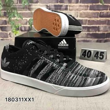 Adidas BUSENITZ ADV Fashion Personality Casual School Board Shoes F-CSXY black+grey