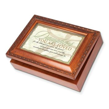 Woodgrain Wonderful Daughter Traditional Music Box - Perfect Daughter Gift