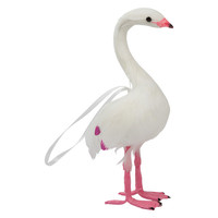 Down To The Woods | Flamingo Christmas Decoration White