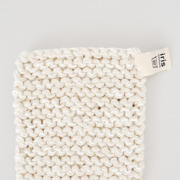 Swedish Linen and Cotton Pot Holder - White