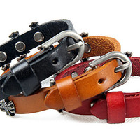 Fashion Punk  Rivets Adjustable Leather Wristband Cuff Bracelet - Great for Men, Women, Teens, Boys, Girls 2700s