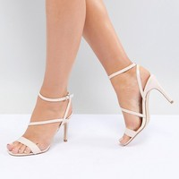 Faith Wide Fit Delly Heeled Sandals at asos.com