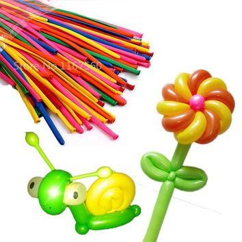 10pcs/lot Funny DIY Magic Long Balloons for Making Animal Flower Clown Balloons Latex Twist Balloons Birthday Party Decoration
