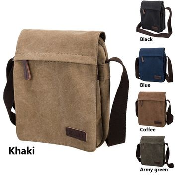 Men's Canvas Satchel Military Bag CrossBody Handbag Messenger Shoulder Vintage