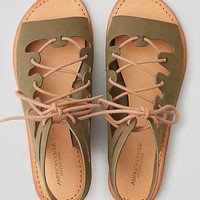 AEO Lace-Up Sandal , Olive