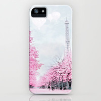 Paris In Pink iPhone & iPod Case by Shabbyfufu