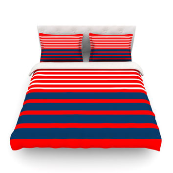 "Trebam ""Nauticki Red"" Navy Lines Featherweight Duvet Cover"