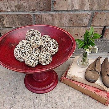 Primitive Country Vintage Rustic Red Wood by timelessNchic