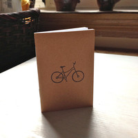 Small Notebook: Bicycle, Cute, Wedding, Love, Portland, For Her, For Him, Brown, Kraft, Mini Journal, Small Notebook, Stamped, Unique