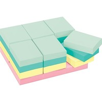 "Post-it® Notes, 1 1/2"" x 2"", Marseille Collection, 24 Pads/Pack (653-24APVAD) 