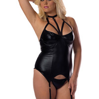 Plus Size Erotic Silver Ring Bustier