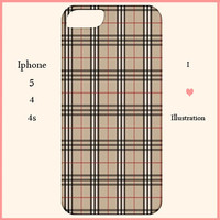 Iphone 5/4/4s Case-Burberry Iphone 5 Case-Iphone Cover-Fashion Case-Fashion Cover-Iphone 5 case,Iphone 4/4s case,Iphone 5 cover,Preppy case