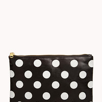 FOREVER 21 Polka Dot Cosmetic Pouch