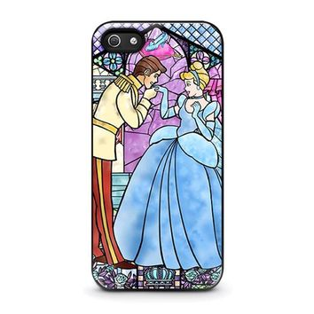 cinderella art glasses disney iphone 5 5s se case cover  number 1