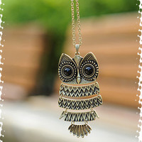 Vintage Owl Pendant Long Chain Necklace [olala02] - $2.15 : Favorwe.com Supply all kinds of cheap fasion jewelry