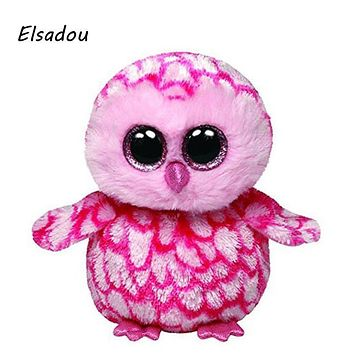 Elsadou Ty Beanie Boos Stuffed & Plush Animals Pink Owl Toy Doll