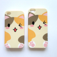 Cats Kawaii iPhone 4 and iPhone 5 protective cases.