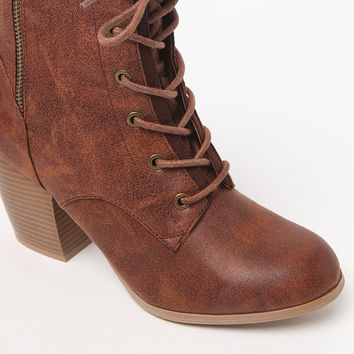 Qupid Maze Lace-Up Heeled Boots at PacSun.com