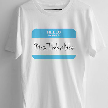 Mrs. Justin Timberlake T-shirt men, women and youth