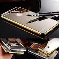 EXCLUSIVE GOLD COMBO - 2 Free Luxury Mirror iPhone 6 Cases PLUS 2 Champagne Gold MX Power Banks (Lightning Connector) FREE SHIPPING
